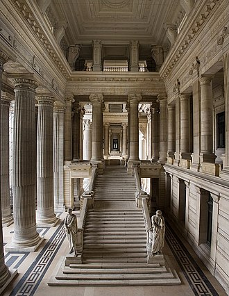 Palais de Justice, Brussels - The monumental marble staircase