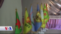 KCK and SDF flags in Kobanî.png