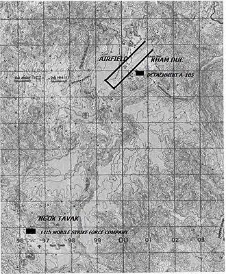 Battle of Kham Duc - Map of Khâm Đức and Ngok Tavak.