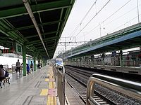 KTX and metro in Siheung Station.JPG