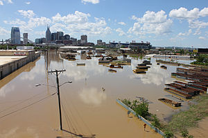 2010 Tennessee floods - Image: Kaldari Nashville flood 08