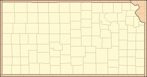 Kanopolis State Park - Image: Kansas Locator Map