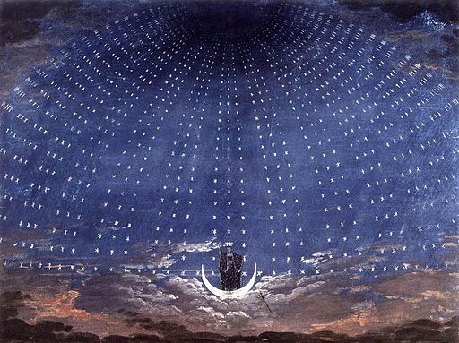 Karl Friedrich Schinkel - Stage set for Mozart's Magic Flute - WGA21001