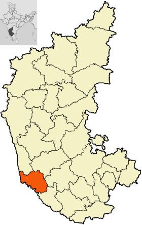 Localisation de District de Dakshina Kannada दक्षिण कन्नड जिला