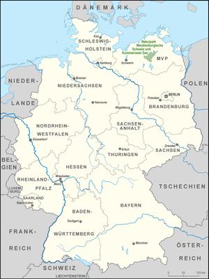 Mecklenburg Switzerland and Lake Kummerow Nature Park - Location of the Mecklenburg Switzerland and Lake Kummerow Nature Park