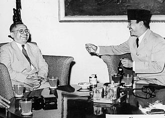 Ignatius Joseph Kasimo Hendrowahyono - Ignatius Joseph Kasimo Hendrowahyono with Sukarno