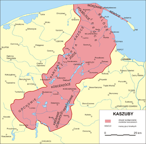 Kashubia - Kashubia by Bernard Sychta as the Kashubian dialects area