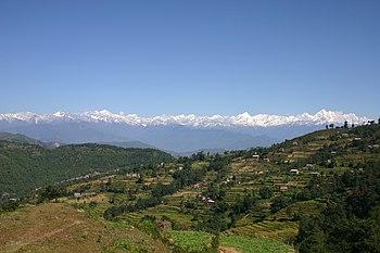 Kathmandu valley near Nagarkot