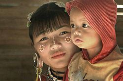 Kayaw woman with her child.jpg