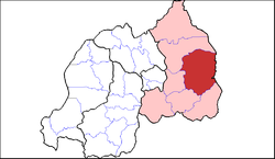 Shown within Eastern Province and Rwanda