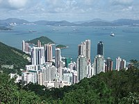 Kennedy Town, situated in between Mount Davis and Lung Fu Shan