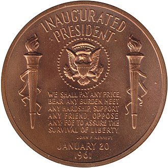 Kennedy half dollar - Image: Kennedy medal reverse