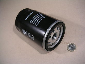 Oil filter - Spin-on oil filter, showing seal and screw-on thread