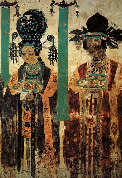 File:Khotanese donor ladies. Dunhuang cave 61.jpg