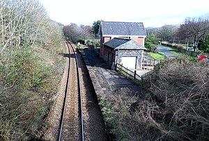 Killochan railway station - Killochan Station looking towards Ayr