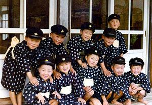 Children in Kimono, circa 1960s. In Ishinomaki...