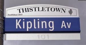 Kipling Avenue - Image: Kipling Avenue Sign