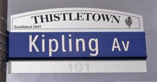 Kipling Avenue road in Toronto, Canada