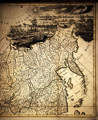 First Kamchatka expedition - Image: Kirilov General map of Russian Empire (Ausschnitt)