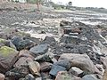 Knox's Rock pier and breakwater at the Millstone Harbour, Fairlie, Ayrshire, Scotland.jpg