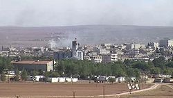 View of Kobanî during the siege of 2014