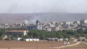 Kobanî - View of Kobanî during the siege of 2014