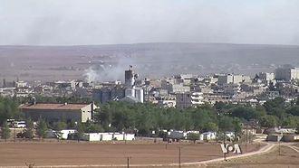 Kobanî - View of Kobanî during the siege of 2014
