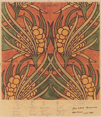 "Koloman Moser - Artwork ""Ambilech"" for Joh. Backhausen & Söhne"