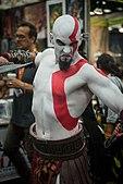 Cosplay av Kratos, spelets huvudperson.