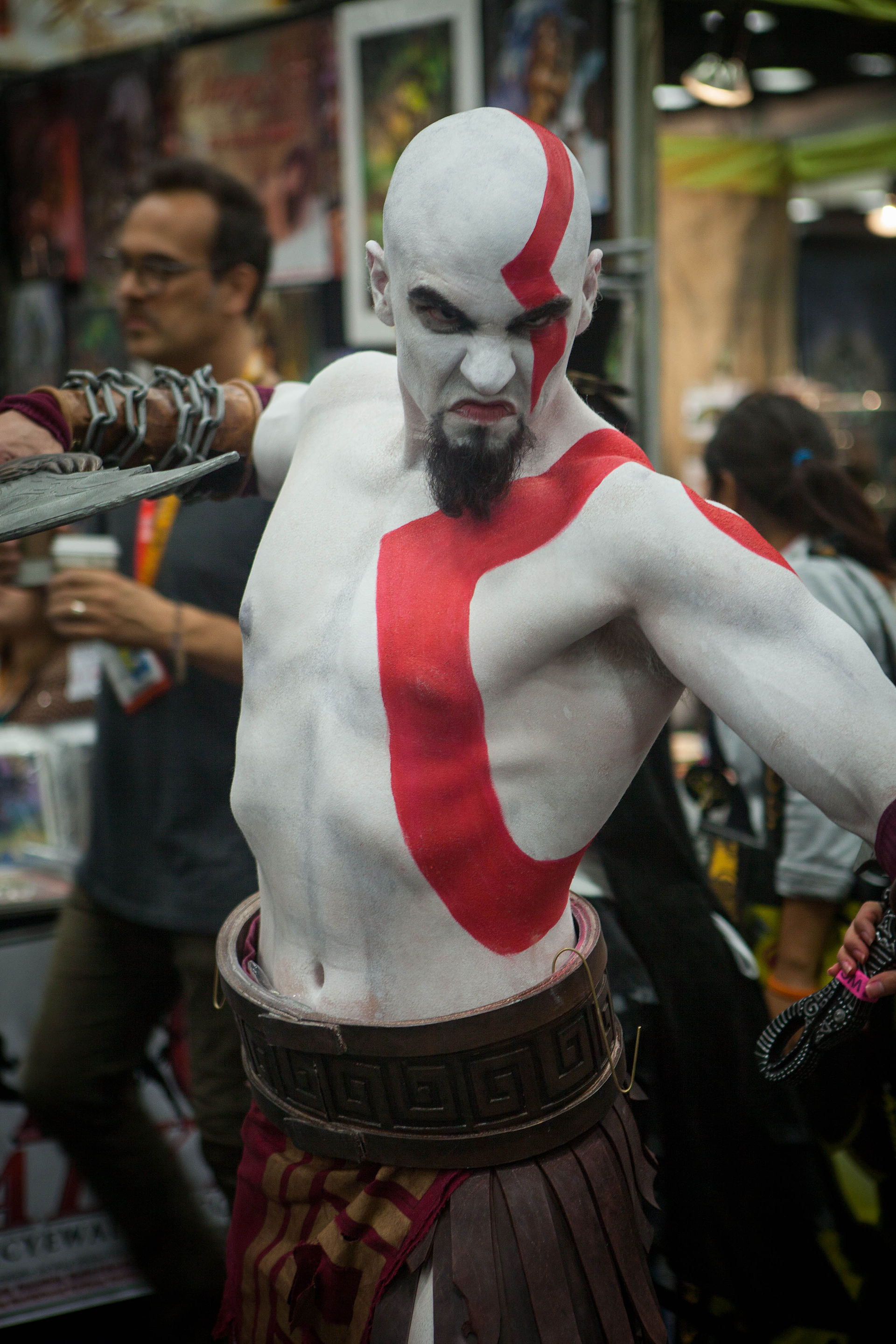 Kratos cosplayer from god of war knows how to deepthroat - 4 9