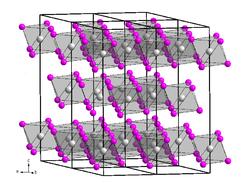 Kristallstruktur von Vanadium(III)-iodid