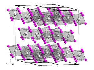 Chromium(III) bromide - Image: Kristallstruktur Bismut(III) iodid