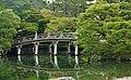 Kyoto Kaiserpalast Oikeniwa-Garten Keyakibashi-Brücke 2.jpg