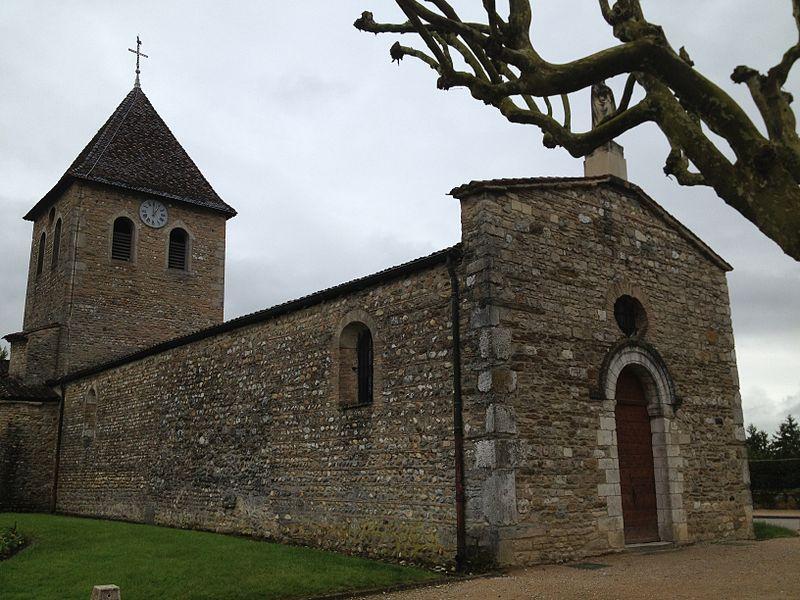 L'église Saint-Maurice de Saint-Maurice-de-Gourdans.