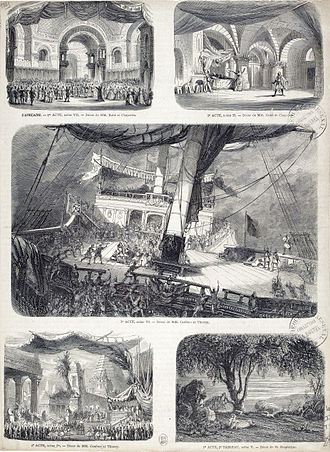L'Africaine - Set designs for the original production at the Salle Le Peletier