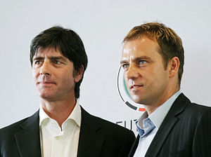 Joachim Löw - Löw and his assistant Hans-Dieter Flick in 2006