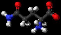 Resultado de imagen de glutamina molecula 3d