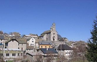 Le Buisson, Lozère - The church in Le Buisson