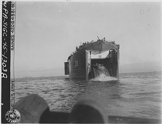 WWII US tank landing ship