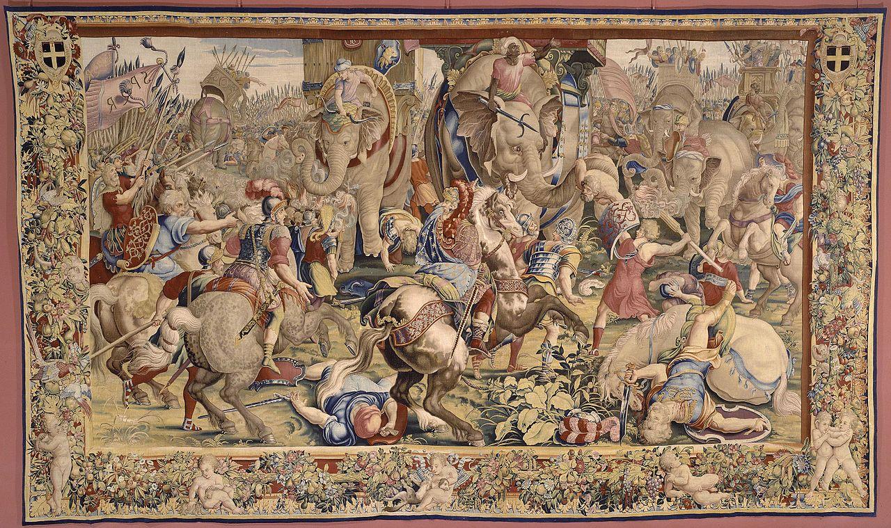 Tenture de Scipion: La Bataille de Zama