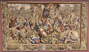 Gobelins Manufactory - Image: La Bataille de Zama Jules Romain 1688 1690
