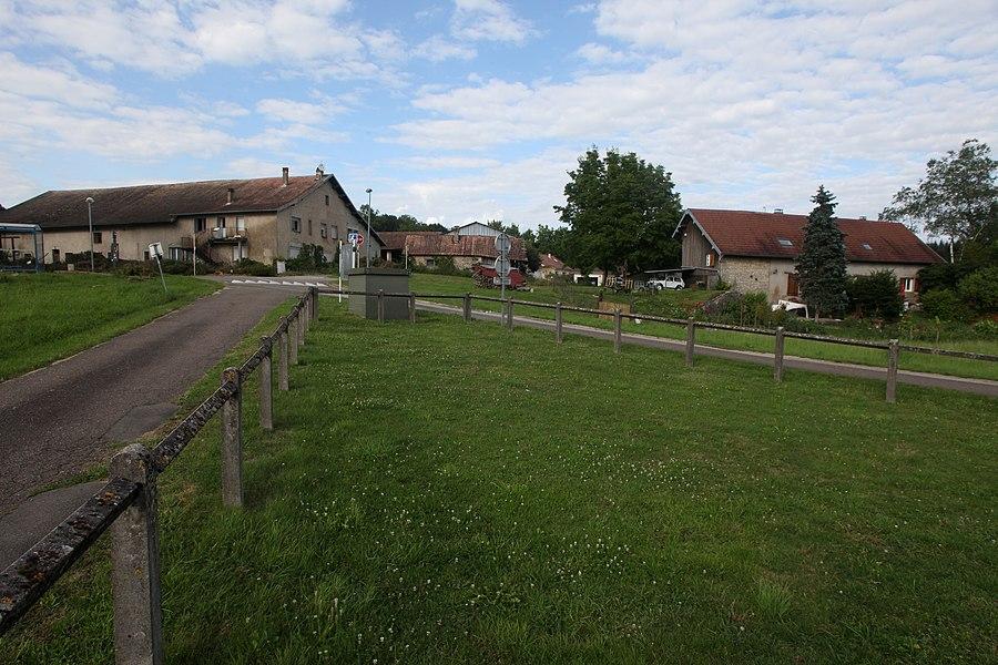 Vue de La Chevillotte (Doubs).