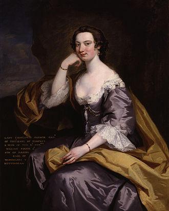 Lady Charlotte Finch - Lady Charlotte Finch, painting after John Robinson
