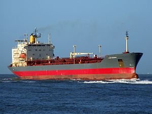 Lady Chiara p1 approaching Port of Rotterdam, Holland 29-Nov-2006.jpg