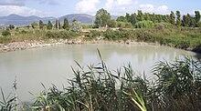 Lago della Regina, la maggiore delle due sorgenti che alimentano le terme