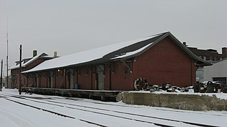 Lake Erie and Western Depot Historic District - Lake Erie and Western Depot, January 2011