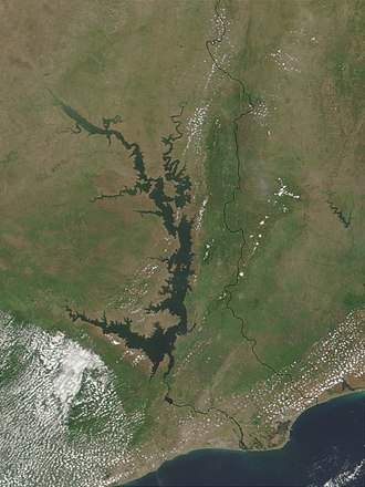 Geography of Ghana - Lake Volta is the world's largest artificially created lake.