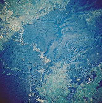 Lake Burragorang - Lake Burragorang from space, November 1985