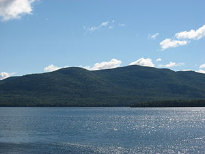 View of Pilot's Knob across Lake George from D...