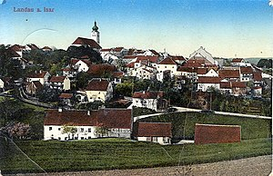 Landau an der Isar - Postcard of Landau an der Isar, 1917